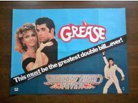 grease / saturday night fever ' original movie poster