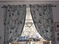 66 width X 72 drop curtains from Next with matching canvas print