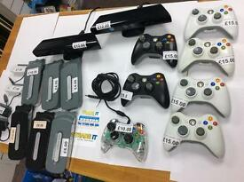 Xbox 360 accessories headsets controllers hard drives