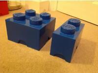 Lego storage bricks - blue