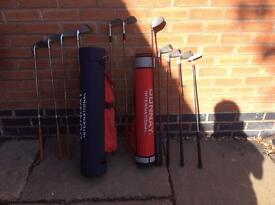 Junior golf clubs and bags - Various