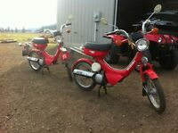 Vintage 1984 & 1986 FA50 Scooters