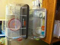 Two hamster cages