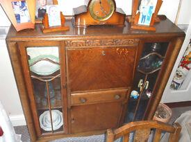 Oak sideboard/drinks cabinet, 1940'50's