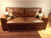 dfs browne leather sofa very comfortable and well loved sofa