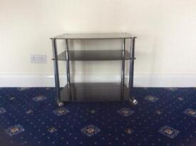 Black glass & chrome TV stand by Premier Housewares - as good as new!