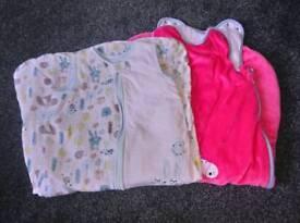 Two baby sleeping bags