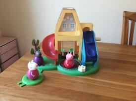 Peppa Pig weebles playhouse and train