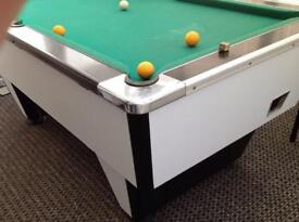 Pool table slate bed coin operated or manual