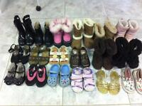 Lot of 18 Pairs of Children's Boots and Shoes for Sale