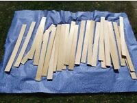 Replacement Wooden Bed Slats For Double Bed 14 Pairs With Plastic Caps / Holders If Required