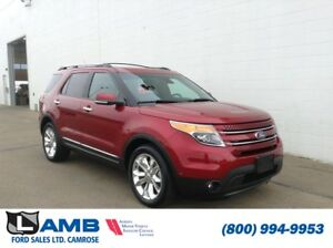 2015 Ford Explorer Limited AWD with Dual Panel Moonroof, Trailer