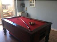 Slate pool table for sale.