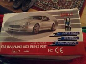 Car MP3 player with usb/sd port brand new in box £25