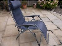 Lafuma original Zero gravity Sun lounger leisure chair Blue