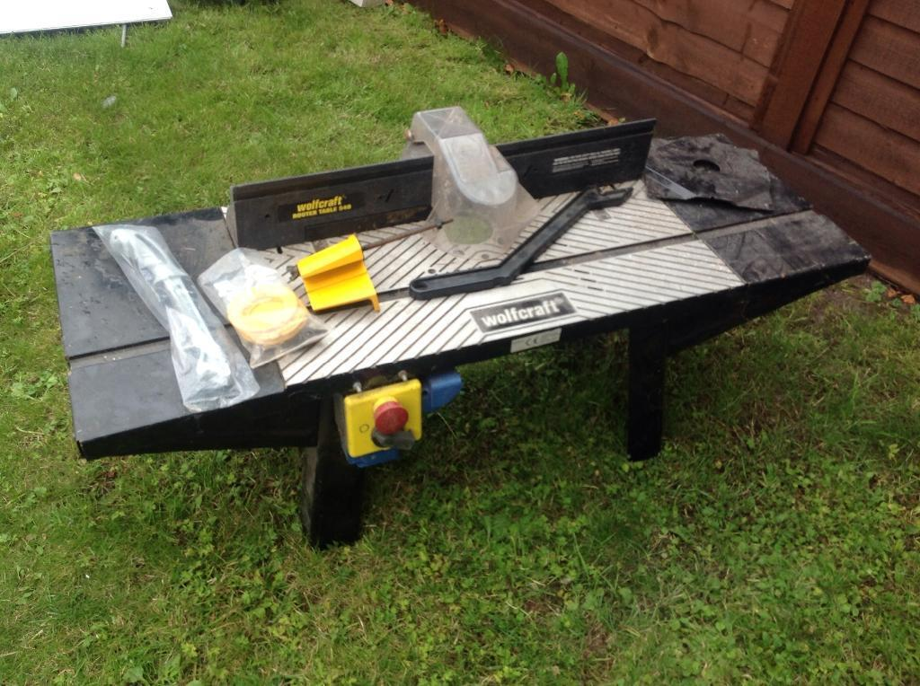 Router table wolfcraft 540 in coalville for Table wolfcraft