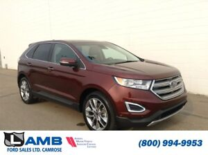 2015 Ford Edge Titanium AWD with Panoramic Roof, Navigation and