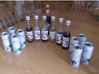 PLANNING A PARTY ? HERE ARE 6 PART USED BOTTLES OF MONIN FRENCH SYRUP USED FOR MAKING ITALIAN SODAS