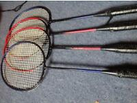 Badminton Rackets x4, all for £2
