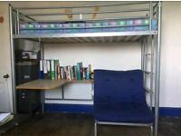 Free delivery / Jay-be bunk bed with desk and pull-out bed