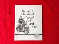 "Indian Repair & Overhaul Manual 74"" and 80"""