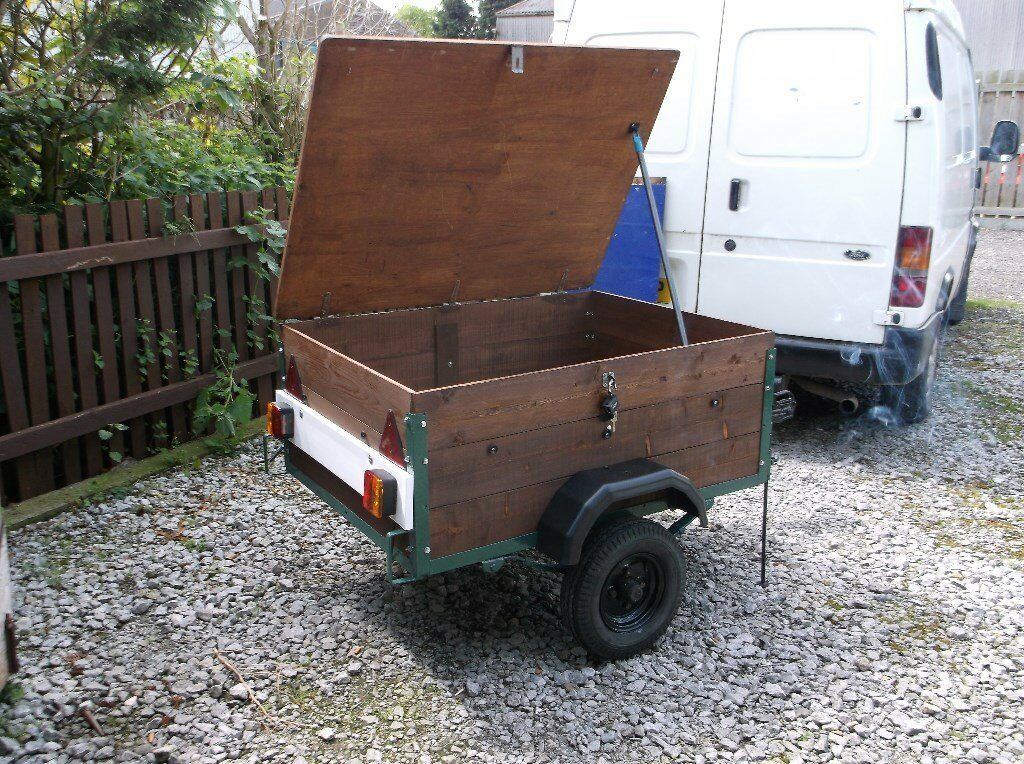 car trailer with lockable lidin Hull, East YorkshireGumtree - trailer 4x3 ideal camping / general use lockable lid waterproof cover new mudguards new boards new lightboard spare wheel 3 good tyres £125
