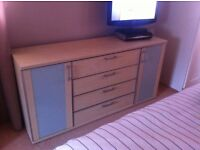 Matching bed and John Lewis drawers 'Nolte' bedroom furniture set