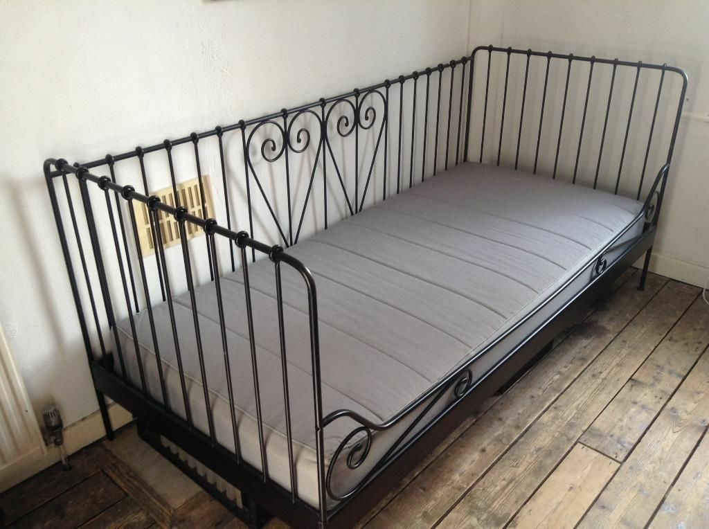 Ikea meldal black metal daybed with ikea sultan mattress - Black days ikea ...