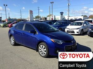 2014 Toyota Corolla S LOW KM'S LOCAL TRADE FULL EXTENDED WARRANT