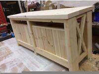 Bespoke Solid Wooden Bench with Storage