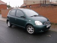 2003 Toyota Yaris 1.3 T Spirit, 5Dr, Mot Oct 17. £475.ono. (PLS NO TEXTS)
