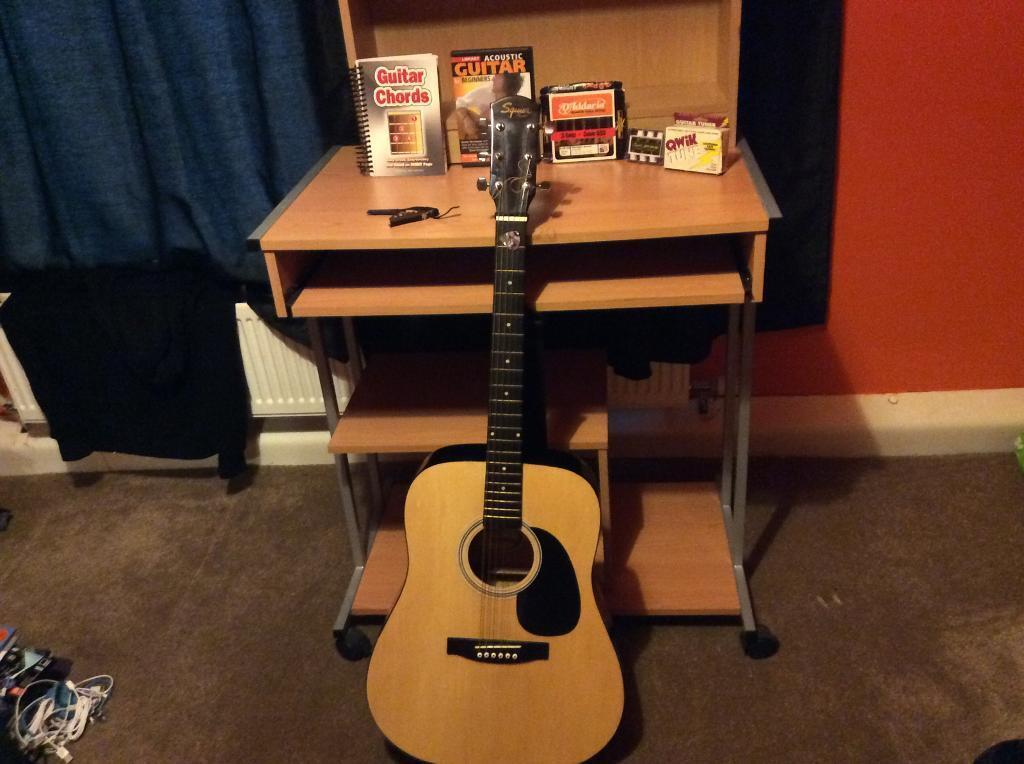 PU/ Meet, Acoustic Squire Fender Guitar, D\'Arrio Strings, Squire ...