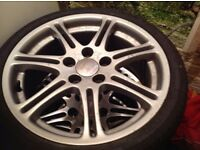 HONDA CIVIC TYPE R ALLOY WHEELS AND LOW PROFILE TYRES