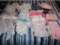 BABY GIRL 0-9 mths MEGA BUNDLE- £20 for ONLY £10!!!