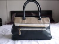 Blue and Tan NEW Handbag