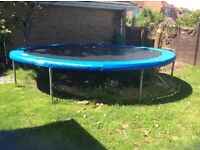 14ft Outdoor Trampoline - well used but servicable.