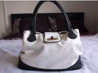 White and Blue NEW Handbag