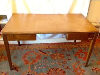 REDUCED !! Large wood desk with 2 drawers