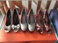 3 pairs of high heels