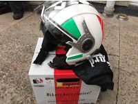 italian flag design motorcycle/ scooter helmet