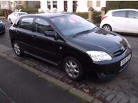 56 reg totoyta corolla t3 d4d diesel 5 door hatchback black