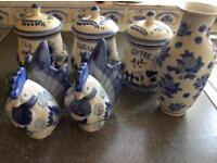 Ceramic kitchen set *HANDPAINTED HOLLAND*
