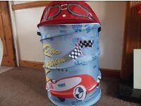 Pop up toy tidy/storage, racing car theme
