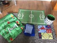 Kids Football themed bedroom set, duvets,shades and notice board