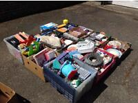 11 boxes of car boot items - Kirby bedon