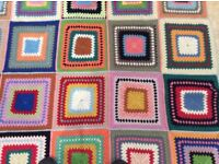 Large Crocheted Blanket In Beautiful Colourful Design
