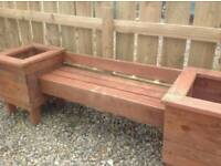 New garden bench with end planters