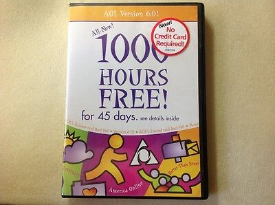 Collectors Cd Aol America Online Ver 6 0 1000 Hours Free In Case Cd028