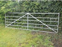 12 FT GALVANISED 5 BAR GATE FOR COLLECTION ONLY