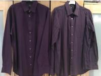 2x marks and Spencer's shirts 16.5 inch neck